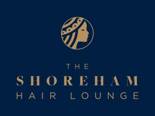 Shoreham Hair Lounge Logo_Primary Logo_Navy Background